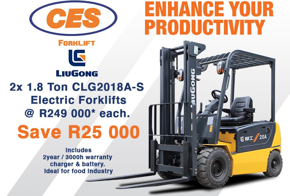 Promotional Offer: Liugong 1.8 Ton Electric Forklift